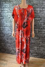 NWT Womens Pretty Red Animal Inspired Feathered Print pattern Lightweight Dress