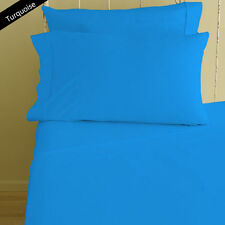 1000 TC Turquoise Solid-Bedding Sheets Collection 100%Egyptian Cotton All Sizes: