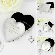 Personalised Engraved Jewellery Box & Silver Pendant Gift Set Birthday Xmas Gift