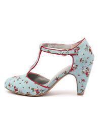 New I Love Billy Albot Blue Spot/Red Print Women Shoes Casuals Heels Pumps