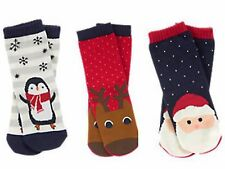 NWT Gymboree Boy's Christmas Holiday Shop Santa, Reindeer, & Penguin Socks  U-Pk