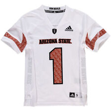 ARIZONA STATE SUN DEVILS JERSEY -ADIDAS YOUTH-ALL SIZES-WHITE-NWT RETAIL $45