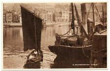 Early  SCARBOROUGH Coble Fishing Boat Postcard