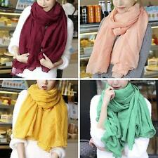 Fashion Womens Ladies' Cotton Linen Soft Flower Long Scarf Shawl Stole Scarves