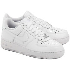 Nike Kids' Air Force 1 Low Basketball Shoes 314192-117 White Sz 6