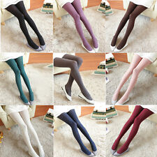 Winter Pantyhose Tights Womens Thick Knit Fashion Footed Winter Warm Stockings E