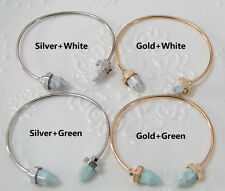 New Fashion Gold/Silver Charm Women Cuff Turquoise Bracelet Bangle Jewelry Gift