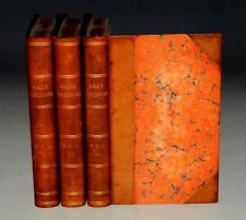 Captain Basil Hall Patchwork COMPLETE 3 Volumes 1841 LEATHER Second Edition