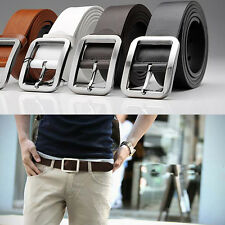 Fashion Men's Casual Dress Faux Leather Belt Buckle Waist Strap Belts Xmas Gifts