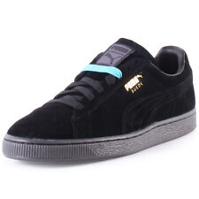 Puma Suede Classic+ Mono Iced Mens Trainers Black Black New Shoes