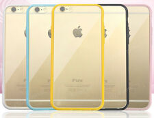 iPhone 5/SE/6/7/S/Plus Crystal Clear TPU Soft Rubber Bumper Hard Back Case Cover