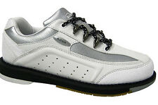Elite Platinum White/Silver Right-Hand Bowling Shoes - Women - 2-Year Warranty