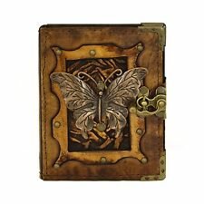 Butterfly Brown Handmade Leather Journal Notebook Diary Sketchbook Book