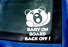 Ted Movie Back Off Baby on Board Novelty Funny Car Window Bumper Stickers Decals
