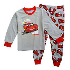 Car Disney Lightning Mcqueen Kids Boy Girls Cotton Tshirt Pant Daily Outfit Sets