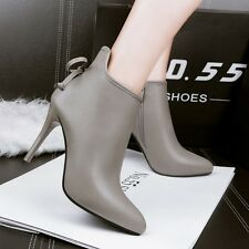 Simple Pointed Toe Bowknot High Heel Sexy Stiletto Women Shoes Ankle Short Boot