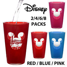 Disney Mickey Mouse Plastic Hi-Ball Tumbler Tall Drinking Glasses Set Cups Party