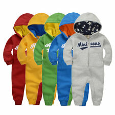 Popular Autumn Winter Baby Cotton Rompers Long Sleeve Boys Girls Jumpsuits AU