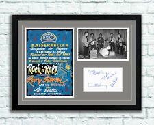 The Beatles Concert Poster and Autographs Memorabilia Poster 1960 Hamburg