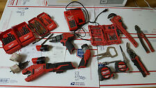 Milwaukee M12 12V Li-Ion Copper Tubing Cutter+Hammer drill+light+hand tools