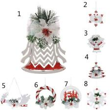 Christmas Santa Snowflake Ornaments Festival Party Xmas Tree Hanging Decoration