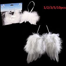 2/3/5/10x Angel Feather Wing Christmas Tree Decor Hanging Ornament Wedding prop