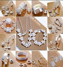 Wholesale fashion jewelry SILVER /Necklace/ Bracelet /Earring/ring set+Gift Box