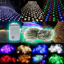 96/200/880 LED Net String Fairy Lights Christmas Xmas Wedding Party House Decor