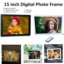 "15"" inch LED HD Resolution Digital Picture Photo Frame + Remote Controller B#"