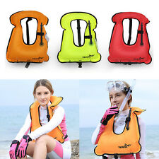 Mens Snorkeling Gear Swimwear Inflatable Adult Life Jackets Vest Swimwear OS