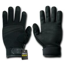 Rapid Dom Digital Leather Gloves Tactical Patrol Army Military Black