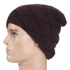 Men Baggy Slouchy Beanie Hat Knit Skullcap Ski Snowboard Hipster Hat