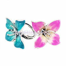 Lucky Brand Antiqued Silver Tone Pink & Turquoise Flower Statement Ring