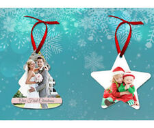 Personalised Christmas decoration tree ornament, bauble, snowflake, Star