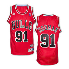 Dennis Rodman #91 Chicago Bulls Adidas NBA Soul Swingman Jersey RED