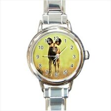 African Wild Dog Italian Charm Watch (Battery Included)