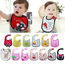 cotton waterproof Baby Boys Girls Kids Children Bibs Saliva Burp Apron QW