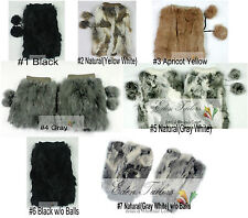 """NEW 8""""/20cm 100% Real Genuine Rabbit Fur Women Leg Warmers Boots Cover Colors"""