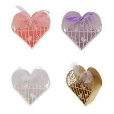 20x Love Heart Candy Paper Gift Box Hollow Out Wedding Party Favor