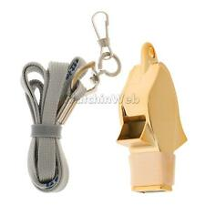 1x Plastic Sport Whistle Outdoor Survival Whistle with Lanyard