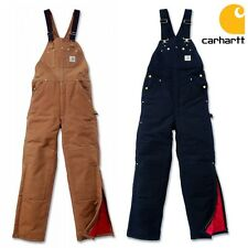 Carhartt Men's Overalls Duck Bib Overall Lined with Quilted lining and Insulated