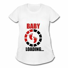 Pregnancy Baby Loading Footprints Women's Maternity T-Shirt by Spreadshirt