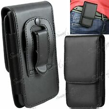 PU Leather Magnetic Flip Belt Clip Hip Case Pouch Holster For Mobile Cell Phone