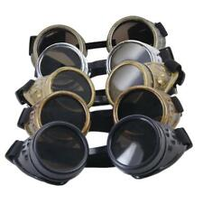 Vintage Victorian Steampunk Goggles Glasses Welding Cyber Punk Cosplay Props