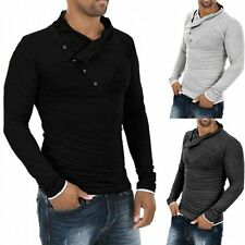 Men's FASHION Casual Slim Long Sleeve T-shirt Stylish Pullover Sports Tee Tops