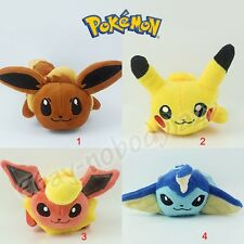 Cute ! Pokemon Eevee Flareon Vaporeon Pikachu Soft Stuffed Plush Doll Toy