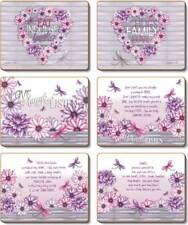 Country Inspired Kitchen DAHLIA Cinnamon Cork Backed Placemats or Coasters Set 6