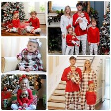 Christmas Family Matching Pajamas Homewear Sleepwear Adult Kids Clothes Outfits