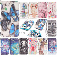 Card Slot Pocket Case for Samsung iPhone Various Phones PU Leather Stand Cover