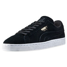 Puma Suede Class Debossed Mens Trainers Black White New Shoes